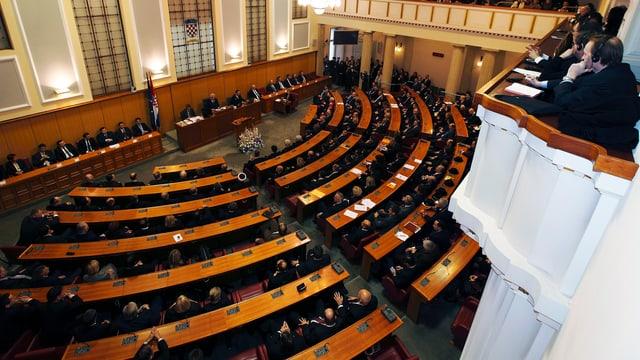 Blick ins kroatische Parlament (Bild vom Dezember 2011)