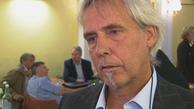 Il president communal da Trun, Dumeni Tomaschett.