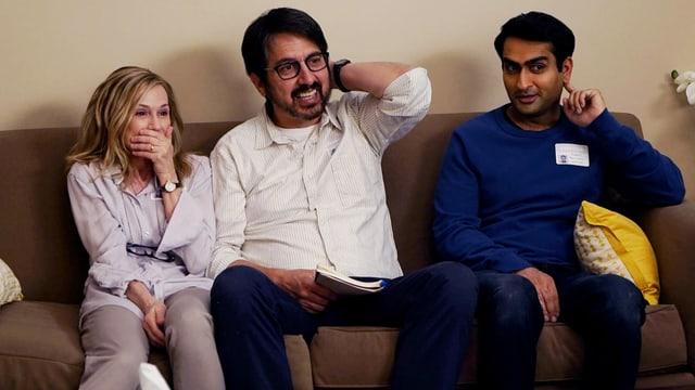 Holly Hunter, Ray Romano und Kumail Nanjiani in «The Big Sick».