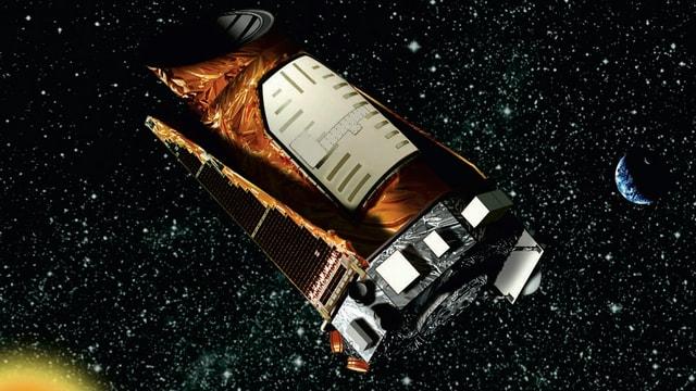 Das Weltraumteleskop «Kepler» auf einer Illustration der amerikanischen Raumfahrtbehörde Nasa.