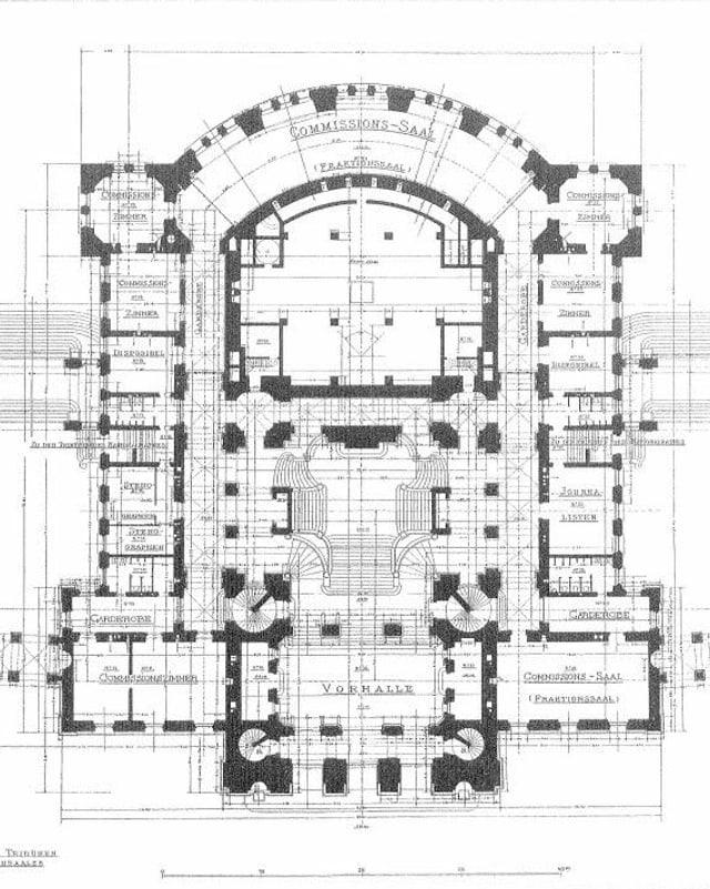 Grundriss Parlamentsgebäude, 1896