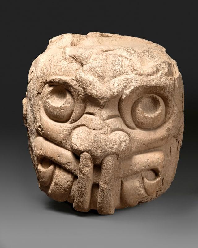 Menschengestaltige Mischwesen-Skulptur aus dem Tempel von von Chavin.