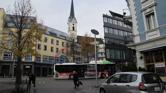 Blick auf die Grenchner Innenstadt.