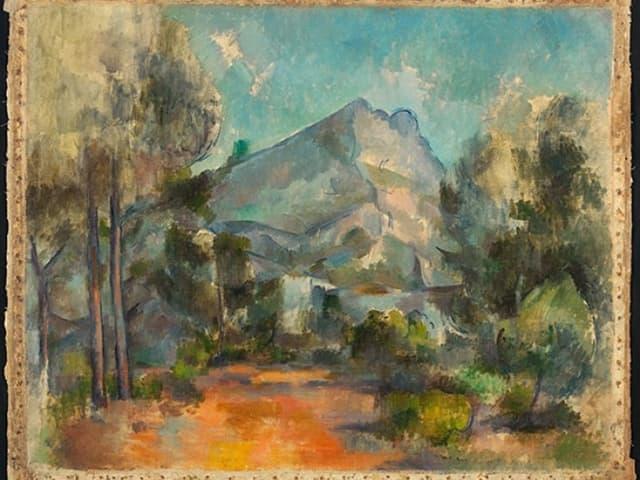 «La Montagne Saint-Victoire» von Paul Cézanne.