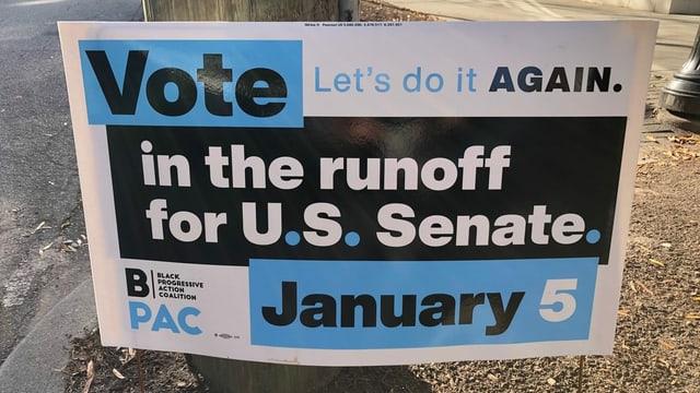 Wahlschild in Atlanta