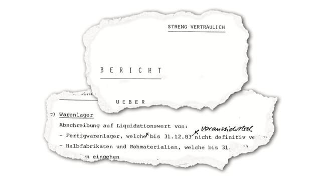 Auszug aus dem Bericht des Bundesarchivs zur ASUAG