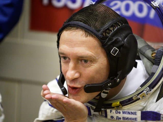 Frank de Winne im Astronautenanzug