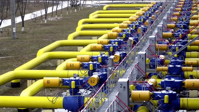 Erdgas-Pipelines in der Ukraine.