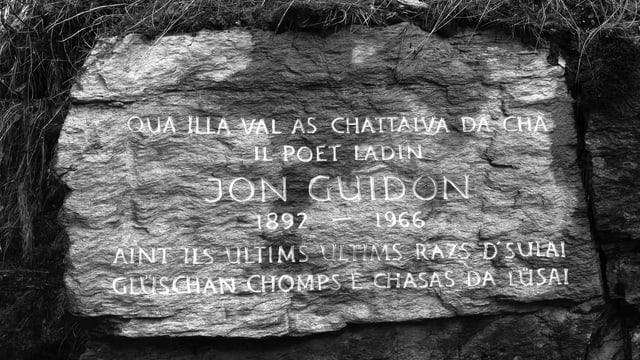 Platta da crap commemorativa per Jon Guidon