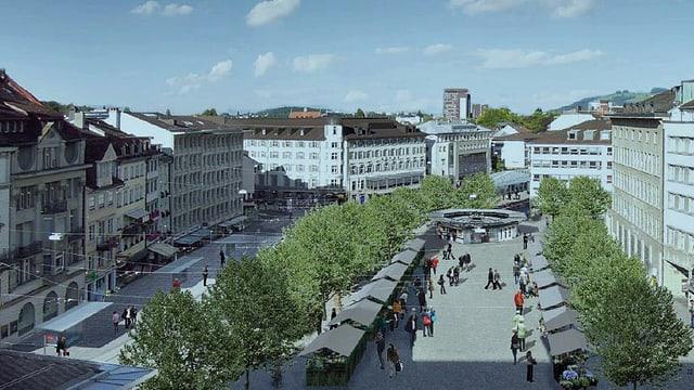 Visualisierung des neuen Marktplatz-Projektes.