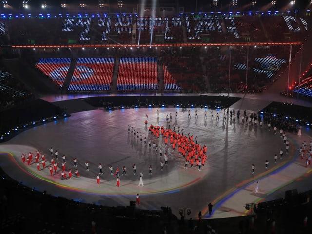 Nordkoreanische Athletinnen und Athleten.