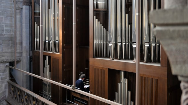 Ausschnitt der Orgel des Basler Münster.