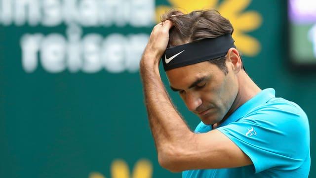 Roger Federer frustrà.