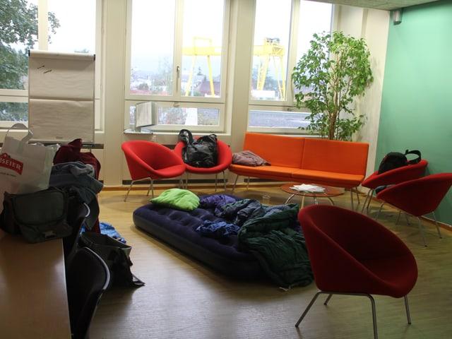 Pfadilager!? Nein, Nachtlager von unserem 24h Gast in der SRF 3 Lounge.