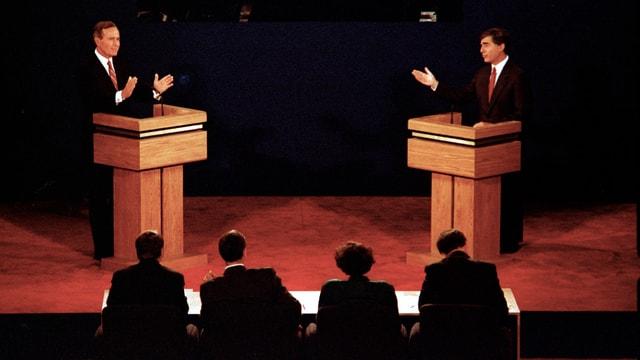 George H.W. Bush und Michael Dukakis.