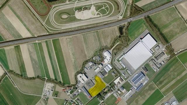 Ein Luftbild.