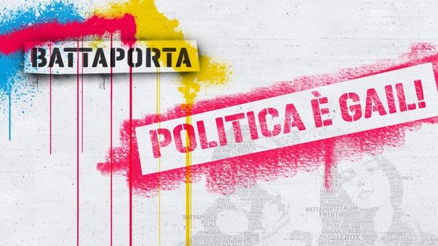 Banner dal studio Battaporta per las elecziuns 2015.
