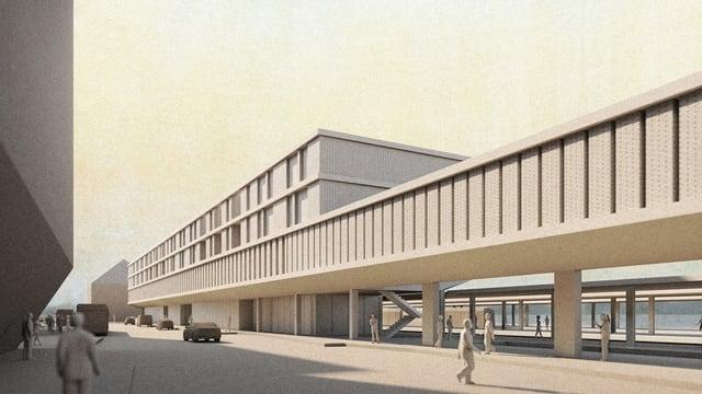 Visualisierung des neuen Bahnhofs Liestal