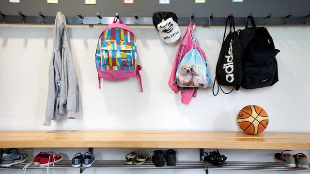 Garderobe an Schule
