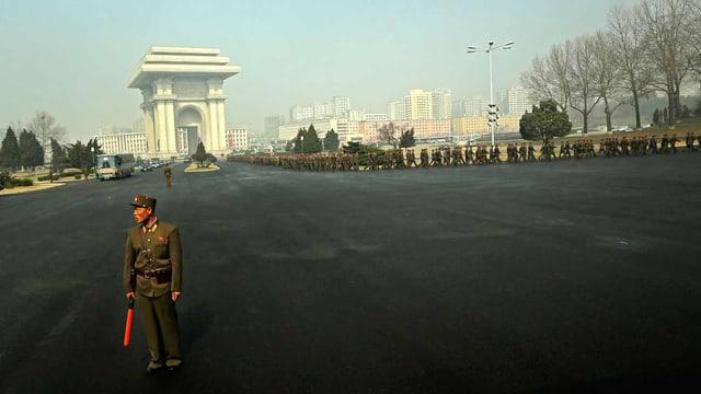 Ein Platz in Nordkorea.
