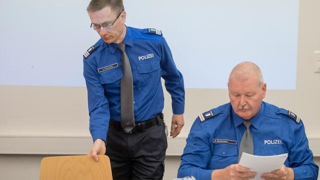 Die beiden Luzerner Polizeichefs Adi Achermann und Daniel Bussmann.