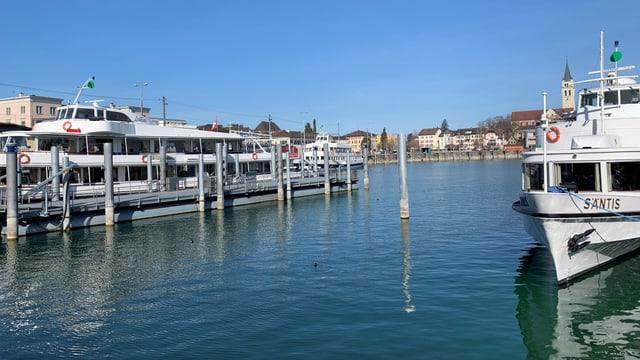 Der Hafen ist für Romanshorn sehr wichtig.