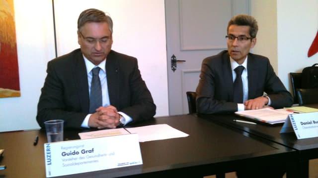 Regierungsrat Guido Graf und Oberstaatsanwalt Daniel Burri.