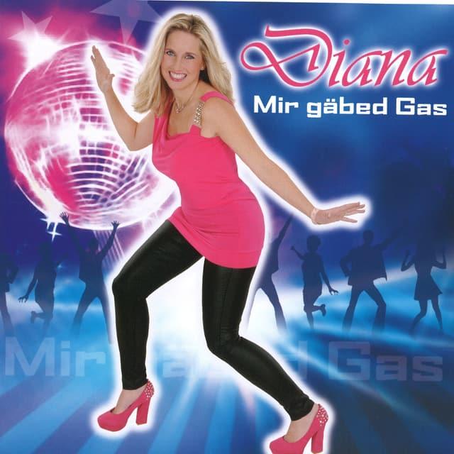 Diana auf Tanzfläche