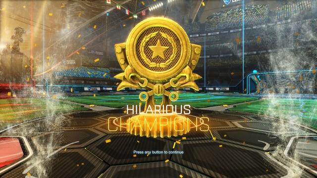 Ein goldener Pokal für den Sieger.