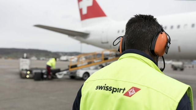 Swissport-Mitarbeiter