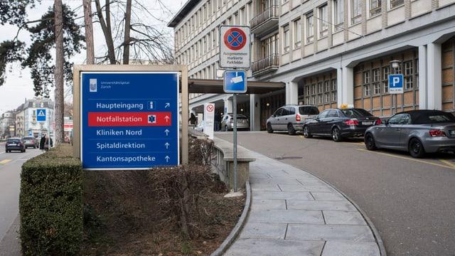 Unispital Zürich von aussen