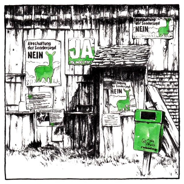 Placats da votaziun vi d'in tablà.