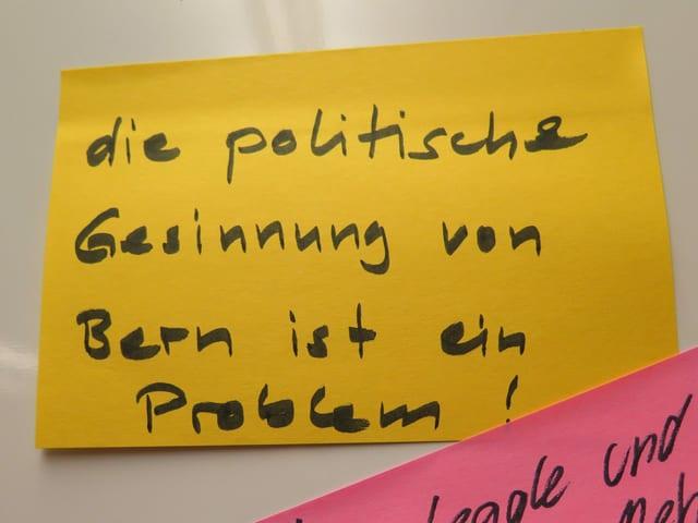 """""""Die politische Gesinnung von Bern ist ein Problem!"""""""