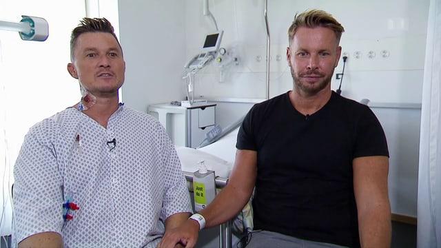 Aufnahme des Paars im Spital.