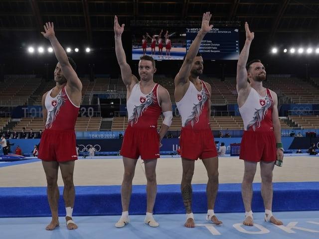 Eddy Yusof, Christian Baumann, Pablo Brägger und Benjamin Gischard