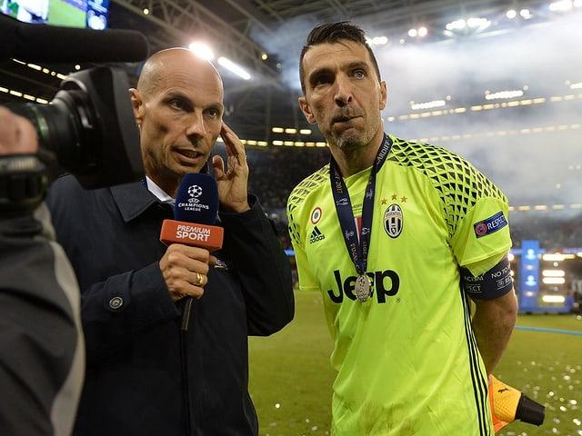 Juve-Goalie Gianluigi Buffon bei einem Interview.