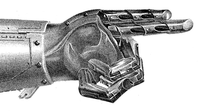 Eine Prothese von Peter Baliff.
