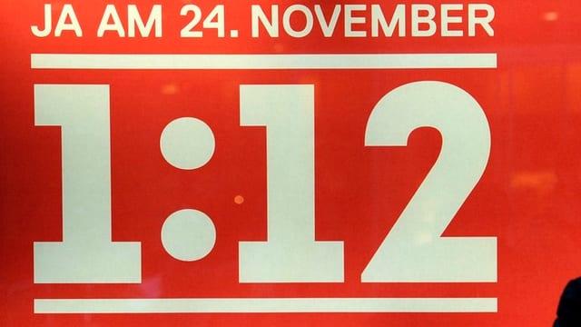 Ja am 24. November steht in Weiss auf rotem Hintergrund. Darunter stehet die Formel 1 zu 12.