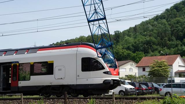 Il crana è collidà cun il tren da la SBB.