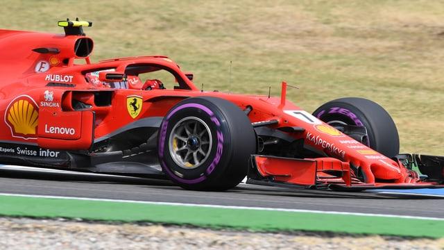 Kimi Räikkönen im Ferrari.