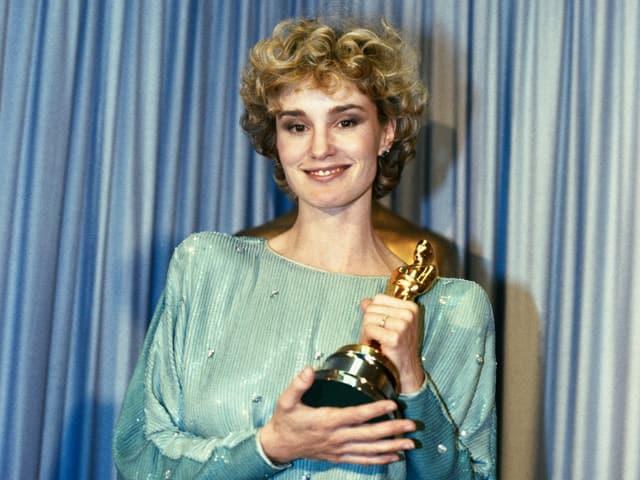 Jessica Lange mit ihrem ersten Oscar