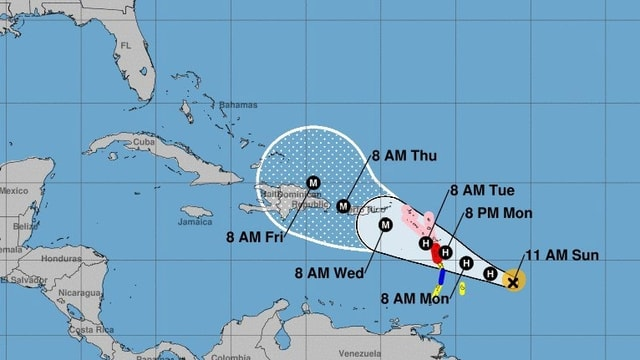 Karte Sturm «Maria»
