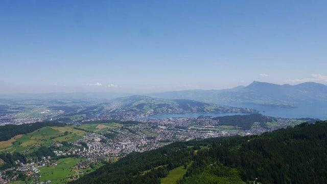 Luzern und Region aus der Vogelperspektive.