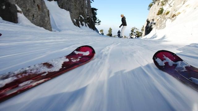 Skifahren aus der Ich-Perspektive