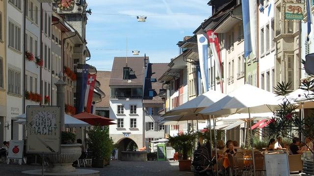 Ansicht der Lenzburger Altstadt
