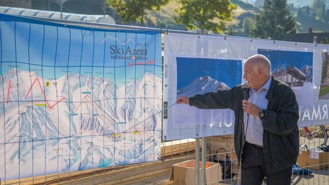 Peter Furger, meinaproject da la colliaziun dal territoris da skis Andermatt-Sedrun.