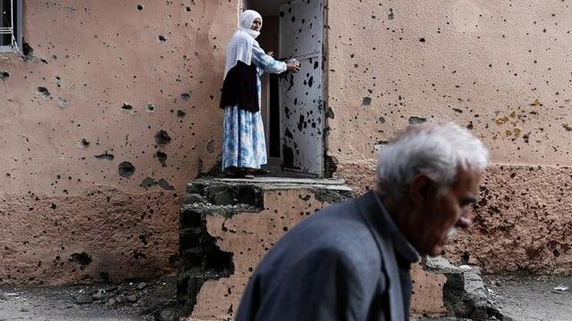 Einschusslöcher 2017 in Haus in Diyarbakir