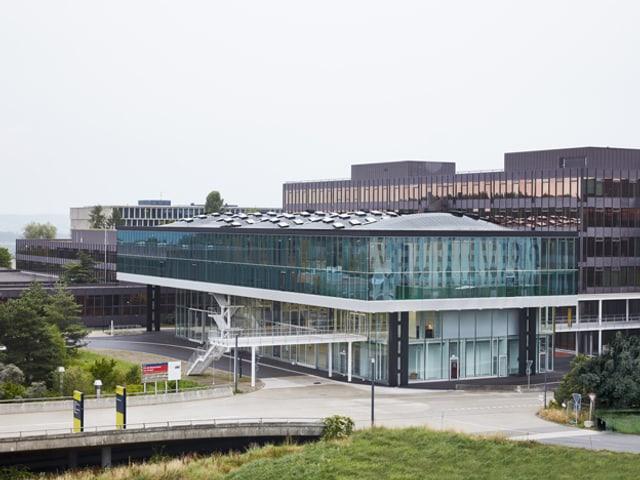 Blick aufs robotergebaute Gebäude