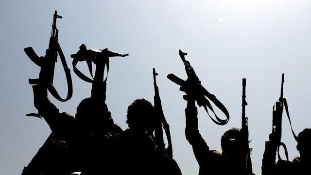 Rebellen im Krieg in Jemen.