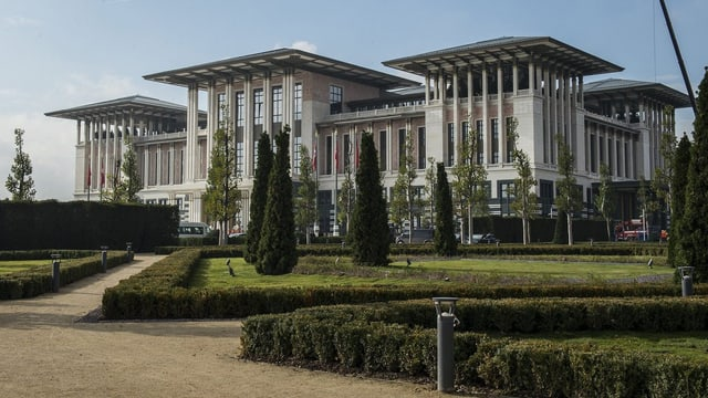 Der Präsidentenpalast in der Hauptstadt Ankara von aussen.